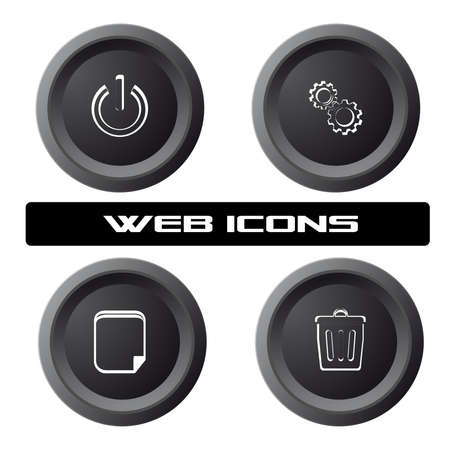 Pc icons,vector icons,applications background. Stock Vector - 27255997