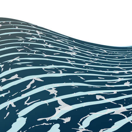 Sea waves ,blue background,vector water. Vector