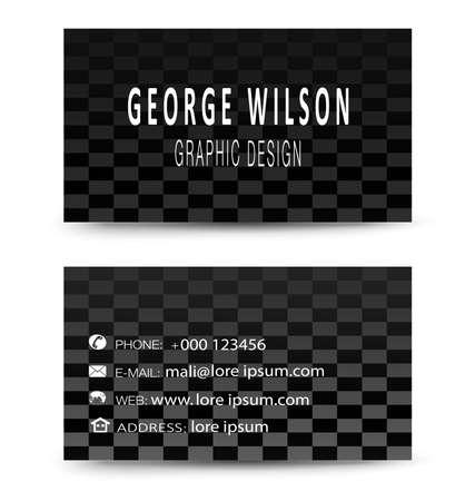 Modern simple light business card Ilustrace