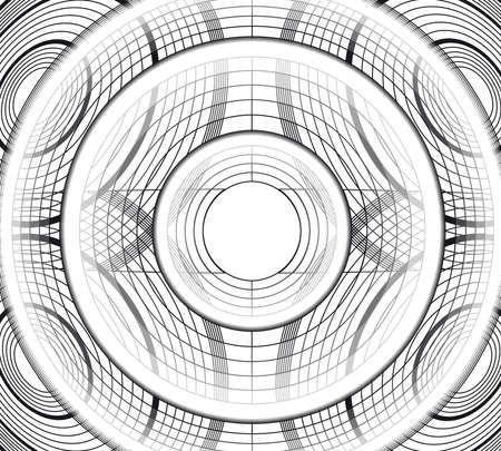 Abstract background spiral illustration technology.