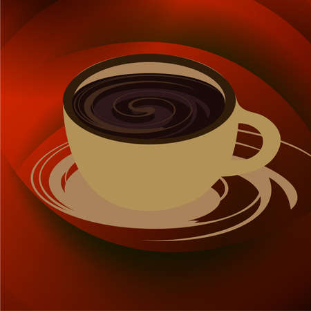 Coffee cup and saucer on a background,vector coffee cup. Illustration