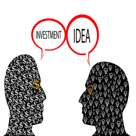 business concept,buy and sell ideas,man selling idea Illustration