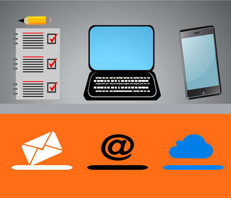 Web Design icons,computer, notebook,mobile phone ,vector Illustration.