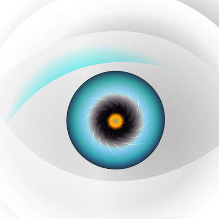 Blue eye concept, abstract vector illustrations.