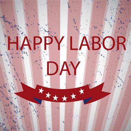 summaries: Happy labor day, text signs. Illustration
