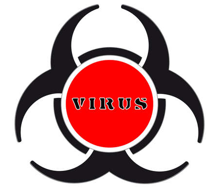 Virus warning sign icon Ilustracja