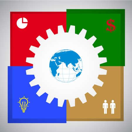 an adder: Business Concept vector illustration, modern template,infographic business plan.