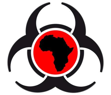 ebola virus sign isolated on white background,vactor illustration Stock Photo