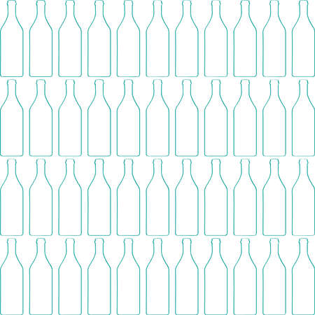 Bottle silhouette, pattern with wine bottles vector.