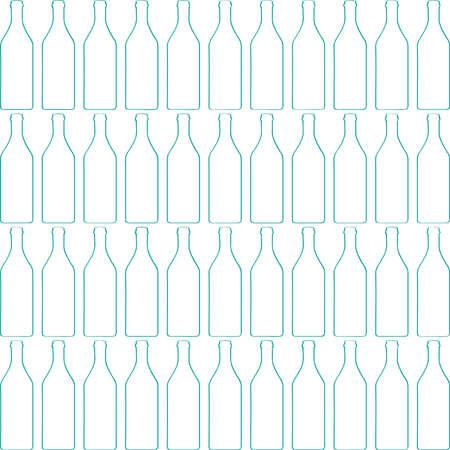 Fles silhouet, patroon met wijnflessen vector. Stock Illustratie