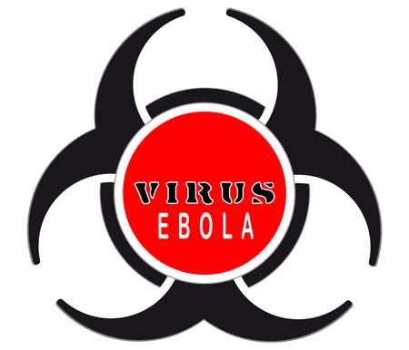 Virus warning sign icon,Biohazard vector illustration Vector