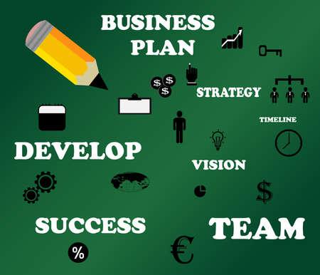 an adder: Business Concept vector modern template,infographic business plan