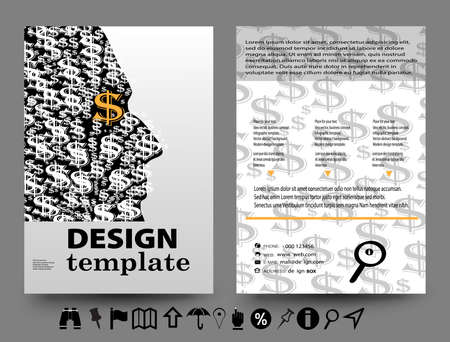 adder: Business Concept vector illustration, modern template,infographic business plan.