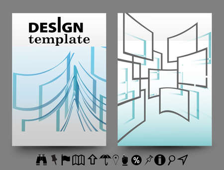 Set of Flyer,abstract vector modern background,brochure design templates with geometric.