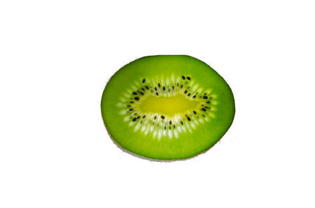 Isolated green of kiwi,slice of fresh kiwi. Stock Photo