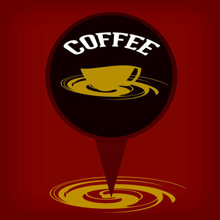 obscure: Coffee cup background Illustration