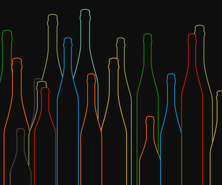 alcohol series: Background with bottles