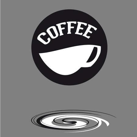 Kopje koffie achtergrond, kopje koffie vector illustratie. Stock Illustratie