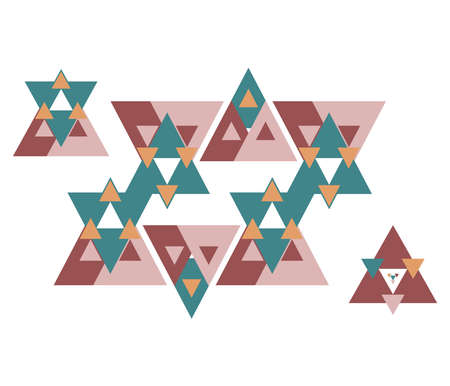 Triangle pattern background, triangle abstract, vector illustration .