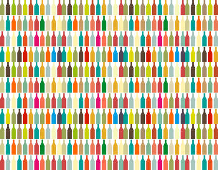 Bottle silhouette, pattern with wine bottles.Vector illustration background bottle. Zdjęcie Seryjne