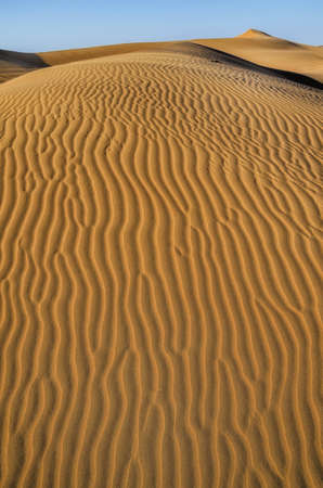 Landscape of dunes orange background.Huge dunes of the desert.Sand dunes of Dubai.Structure in the desert sand.