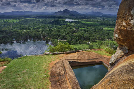 sigiriya: SIGIRIYA, SRI LANKA. Sigiriya is an ancient mountain.Located in the Central Matale.Ruins of fortress on top of Sigiriya Lion Rock.
