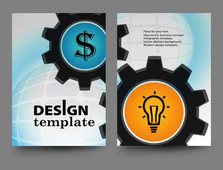 Brochure design template.Vector Brochure Flyer design Layout template, size A4, Front page and back page.Abstract business brochure design. Report brochure flyer design template vector.