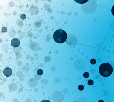 Abstract vector background of a communicate. Atoms and molecules. Abstract science geometric background. ion concept.
