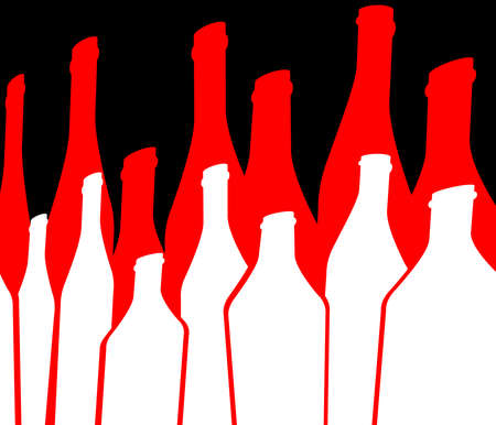 Background Bottle Ilustration.Alcoholic Bar Menu.Design for Party.Template for Menu Card.Wine List Placard.Suitable for Poster.Card Cocktail Invation.Bottle of Wine Vector. Stock Photo
