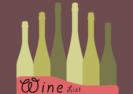 背景ボトル Ilustration.Alcoholic バー Poster.Wine ベクターのカクテル Card.Wine リスト Placard.Suitable の Party.Template の Menu.Design。