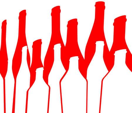 Bottle illustration.Glasses alcohol vector.Cocktail Party.Design for Party.Alcoholic Bottles vector.Wine List Design.Template for Menu Card.Bottle of alcohol.Tumblerful Ilustration.Suitable for Poster