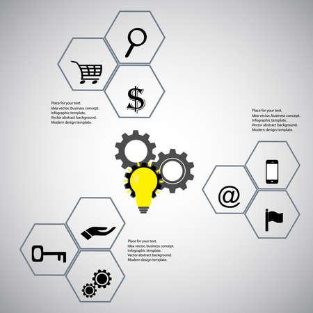 discrete: Infographic design elements concept.Flat design vector social media illustration. Business Conceptual Design template. Report Template and Icons.Idea plan Vector.