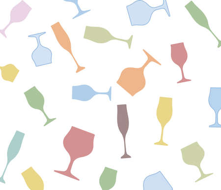 Wine bottle and glass.Glasses alcohol background.Wine background vector.Cocktail Party.Bar Menu.Alcoholic Bar.Template for Menu Card.Design for Party. Stock Photo