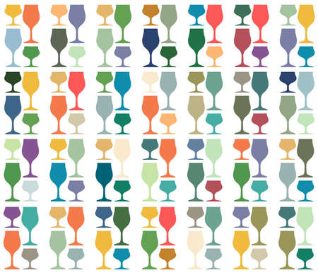 Glasses to alcohol.Alcohol vector background.Wine background vector.Template for drink card.