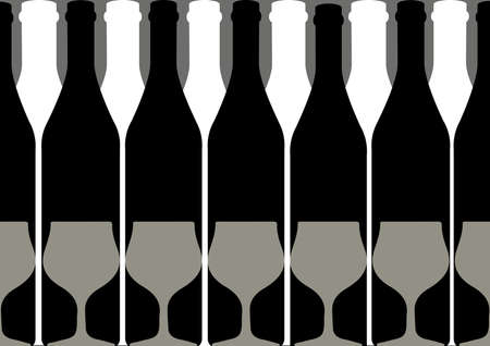 abstract liquor: Vector set of bottles for alcohol.Wine list.Bottle background.Glasses for alcoholic drinks.Design for cocktail party.