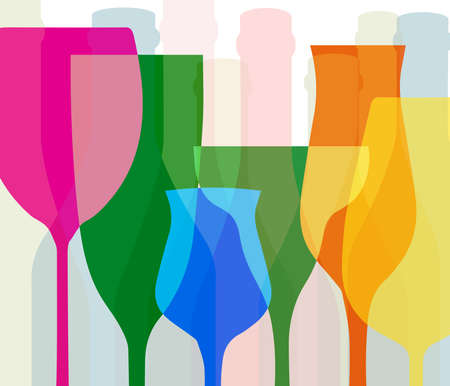 tipple: Alcohol vector background. Template for drink card. Wine background vector. Design for wine. Bottle of alcohol illustration. Glasses to alcohol.Suitable for poster,promotional leaflet, banner.