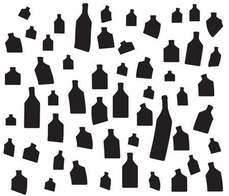 tipple: Vector set of bottles for alcohol.Wine list.Bottle background.Glasses for alcoholic drinks.Design for cocktail party.