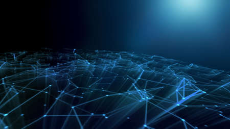 Technology Abstract Geometric Background Plexus.Moving Abstract Decoration 3D Render .Fantasy Technology Loop Animation Plexus.Modern Graphic Background Business Concept.Futuristic Technology Beautiful Loop Animation.Business Communication and Technology Network.