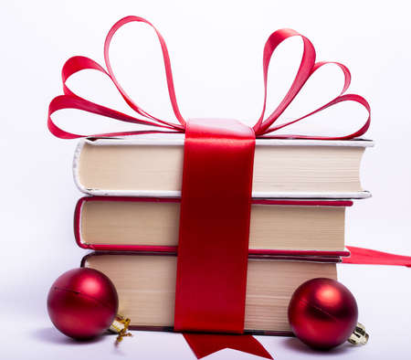 Gift wrapped books for Christmas photo