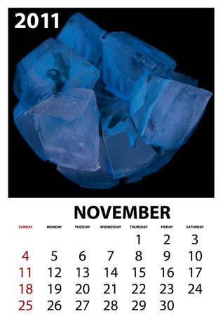 Ice checkered November Stock Photo