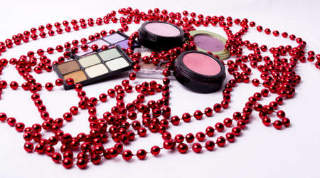 Cosmetic makeup kit with Stock Photo