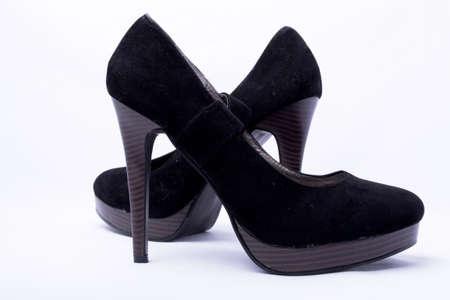 Black high-heeled women Stock Photo