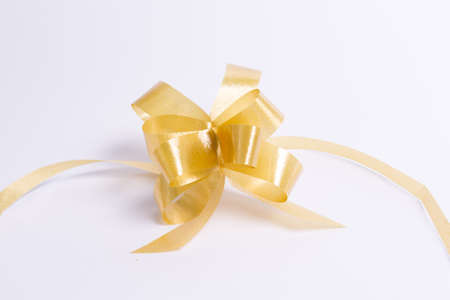 White gold ribbon bow on the back for Christmas and holiday season