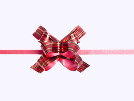 red bouquet white ribbon on the back for Christmas and holiday season Stock Photo
