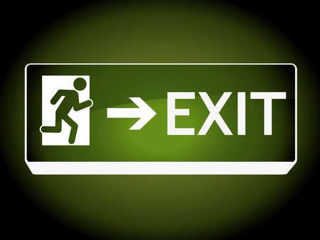 Exit teken op muur