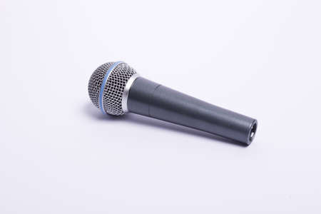 microphone on a white background without cable Stock Photo - 10825309