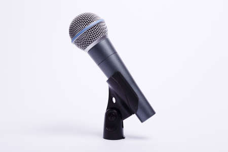 microphone cable holder on a white background Stock Photo - 10825310
