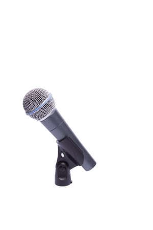 microphone cable holder on a white background Stock Photo - 10880441