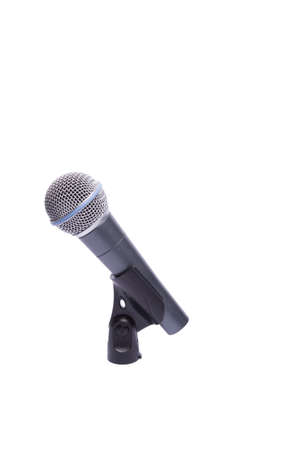 microphone cable holder on a white background Stock Photo - 10923238
