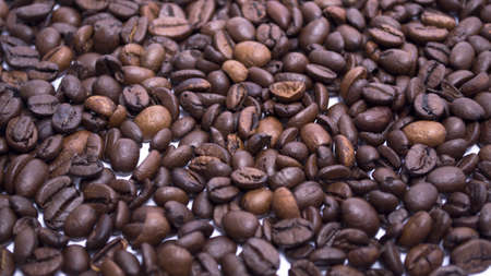 coffee beans into a card edge design background
